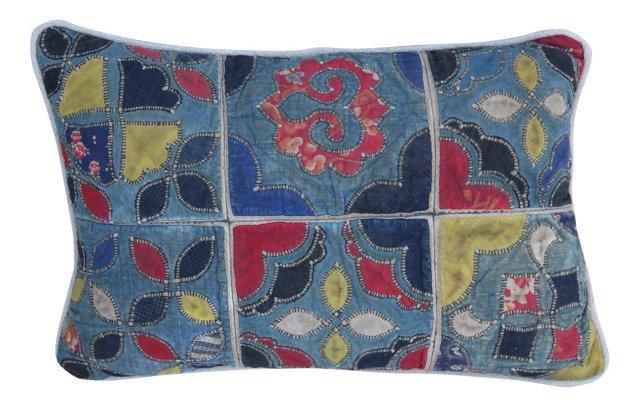 Pillow w/ Patchwork   Quilt