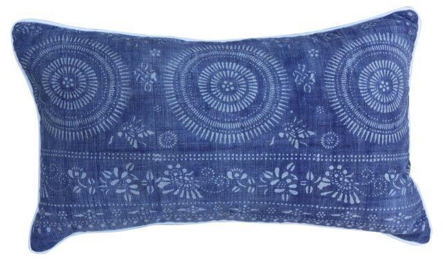 Pillow w/    Batik Textile