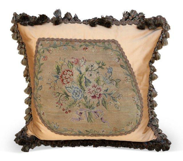 Pillow w/ Antique Needlepoint
