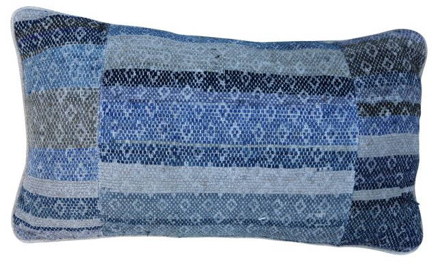 Indigo  Rag  Rug Pillow