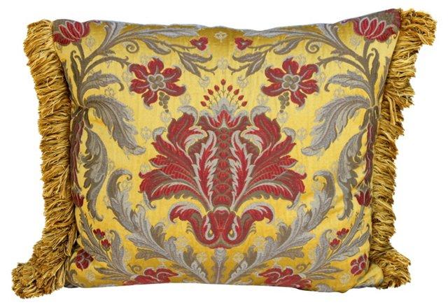 Pillow w/ Antique   Brocade Textile