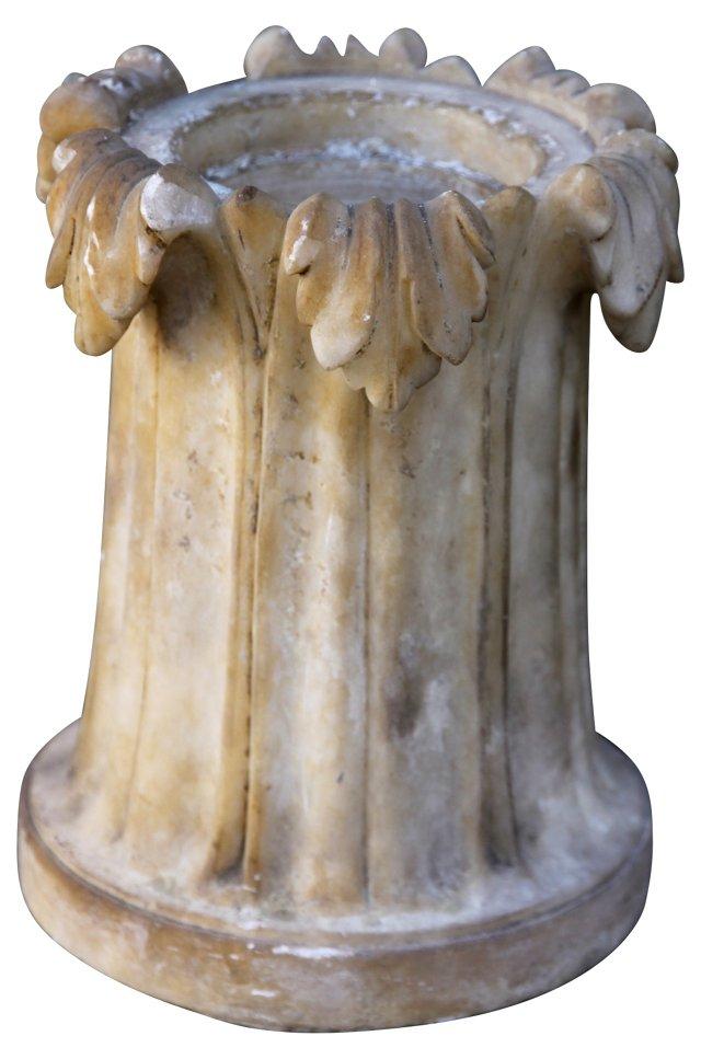 Alabaster Candleholder or Planter