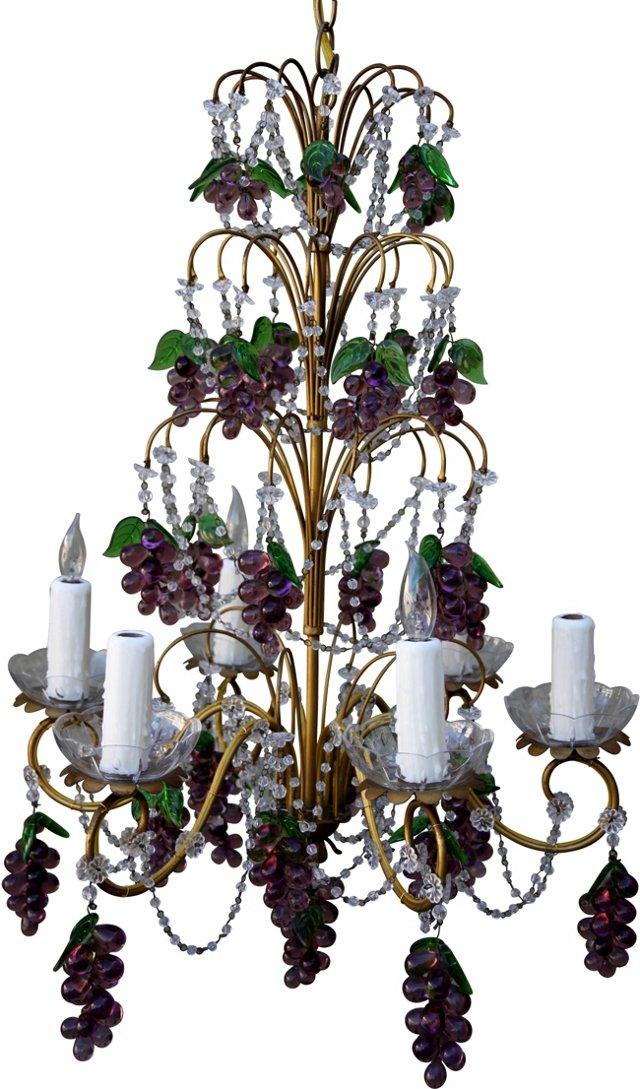 French Six-Light Grape Chandelier