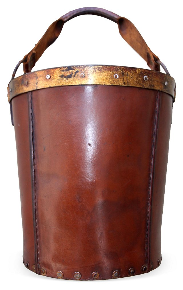 Leather Bucket w/ Handle