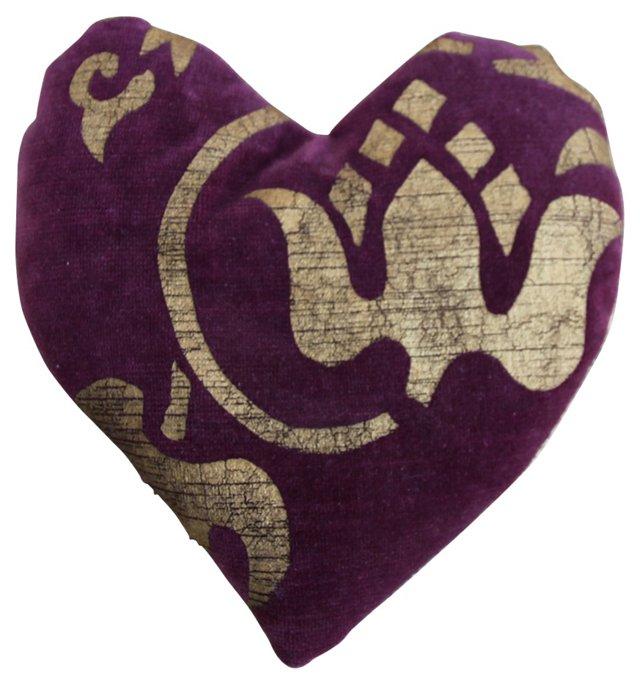 Stenciled Velvet Lavender Sachet