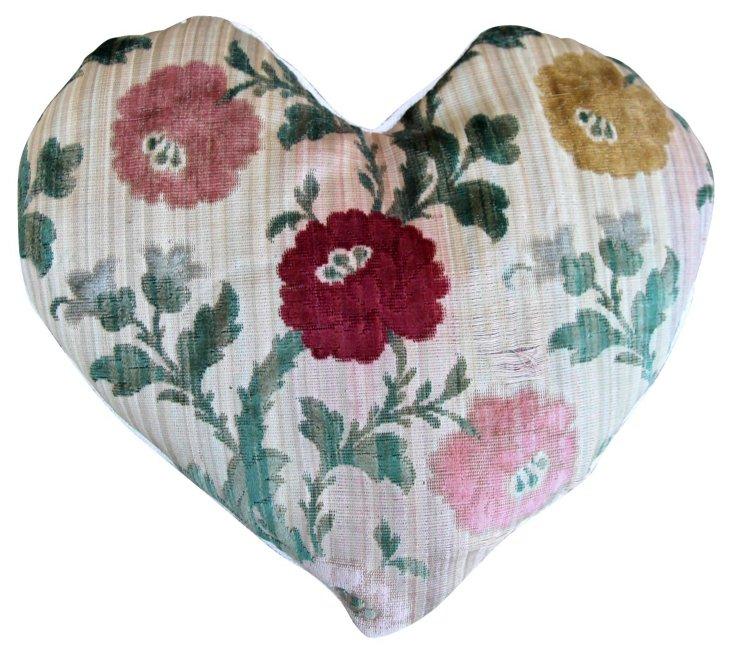 Cut Velvet Lavender Heart