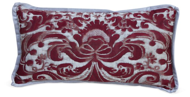 Red & Grey Fortuny  Pillow