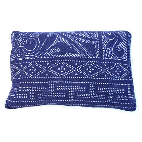 Blue & White Batik Textile Pillow