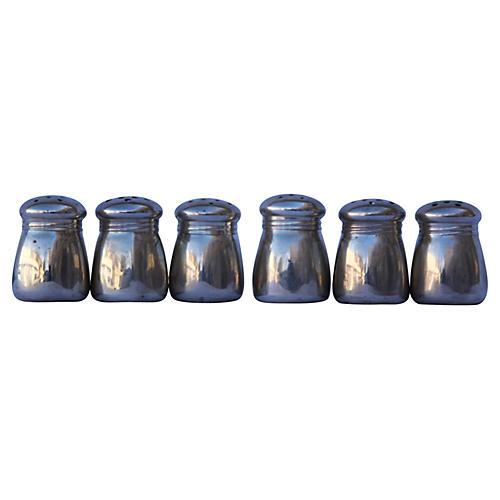 Sterling Salt & Pepper Shakers, S/3