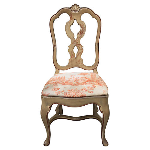 English Chinoiserie Painted Chair