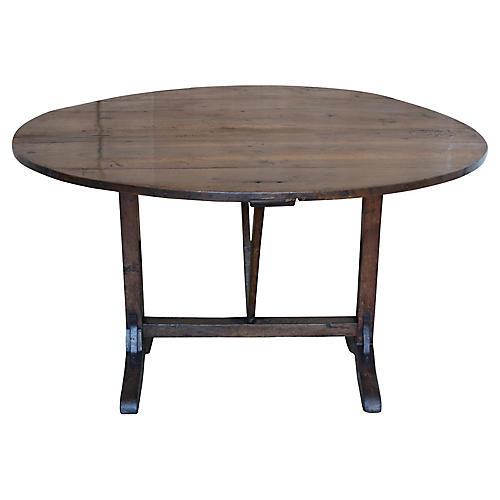 French Elm Wood Wine Tasting Table