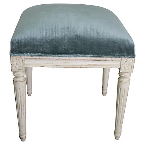 Neoclassical Style Painted Bench