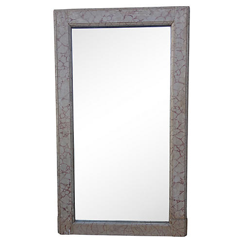 Faux-Marble Painted Italian Mirror
