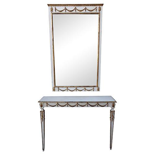 Italian Neoclassical Console & Mirror