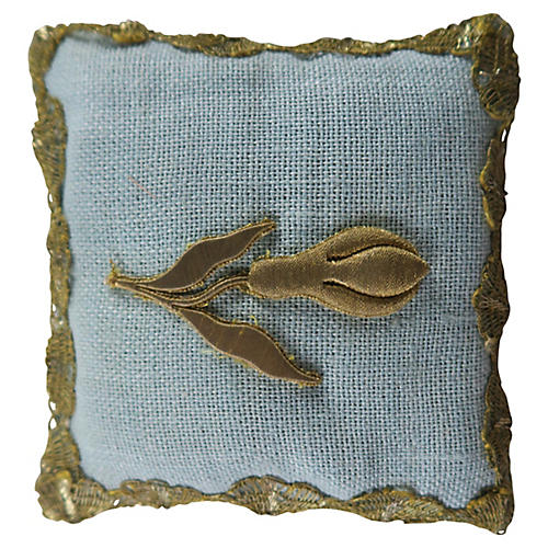 Appliqued Linen Lavender Sachet w/ Tulip