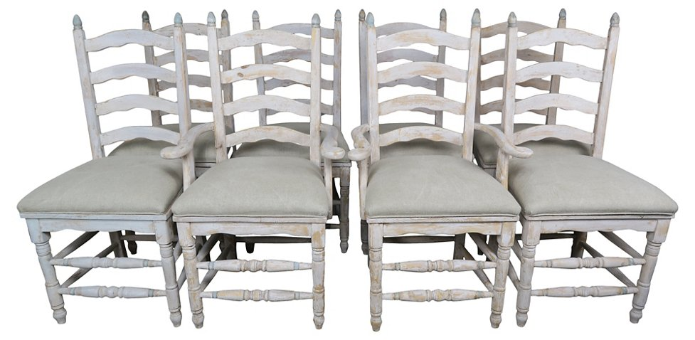 928fcab8bf7 Eight French Country Ladder Back Chairs - Furniture - Sale by ...