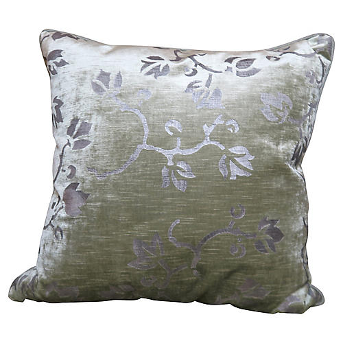 Stenciled Nomi Velvet Pillows, Pair