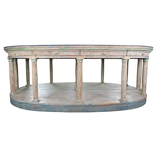 Neoclassical Style Painted Credenza