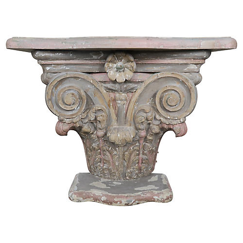 French Painted Capital Console C. 1930's