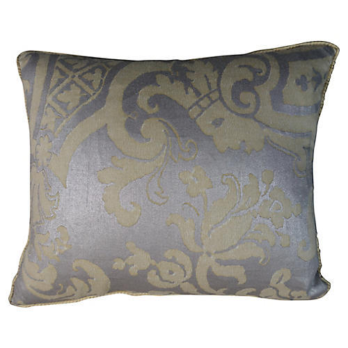Pale Yellow Fortuny Pillows, Pair
