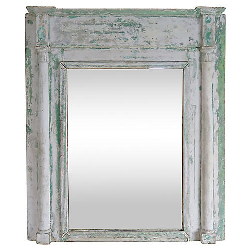 19th C. Swedish Painted Wood Mirror