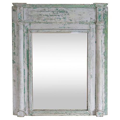 19th C. Swedish Painted Wood Mirror