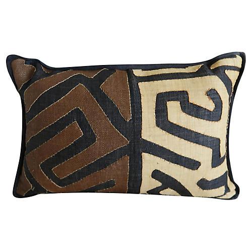 African Kuba Cloth Pillow