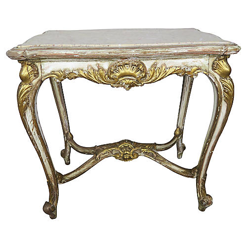 French Louis XV Style Painted Table