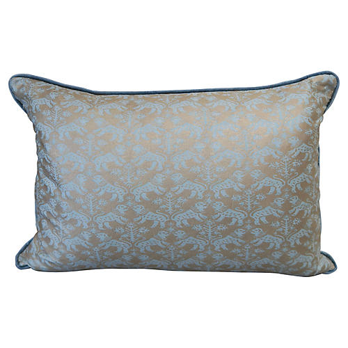 Aquamarine Richelieu Fortuny Pillows, Pr
