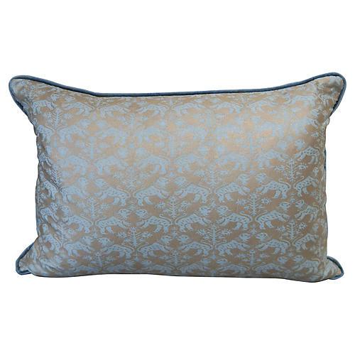 Aquamarine Richelieu Fortuny Pillows, Pr