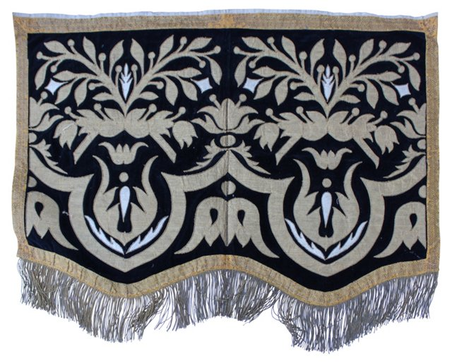 19th-C. Italian Appliqué Textile