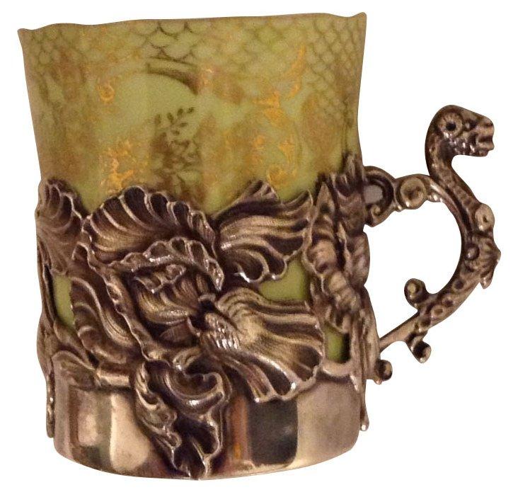 Sterling & Porcelain Demitasse