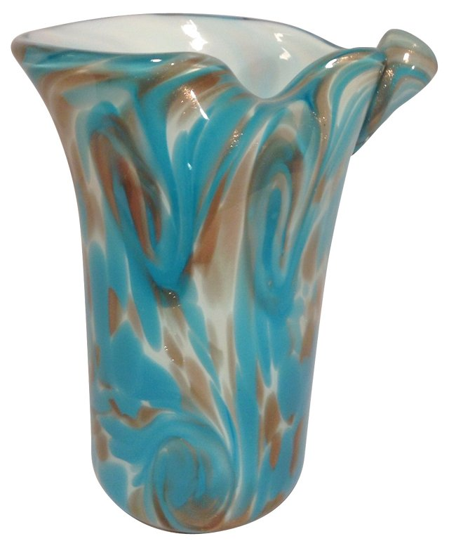 Blue Toso Starry Night Twist Vase