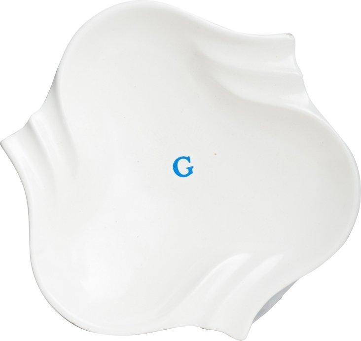 Shield-Shaped Ceramic Dish
