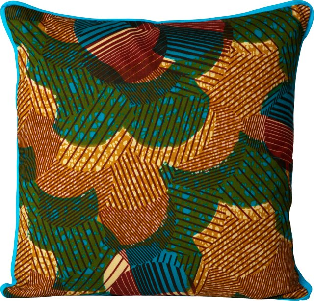 Graphic African Fabric Pillow