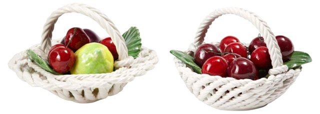 Italian Fruit Baskets, Pair
