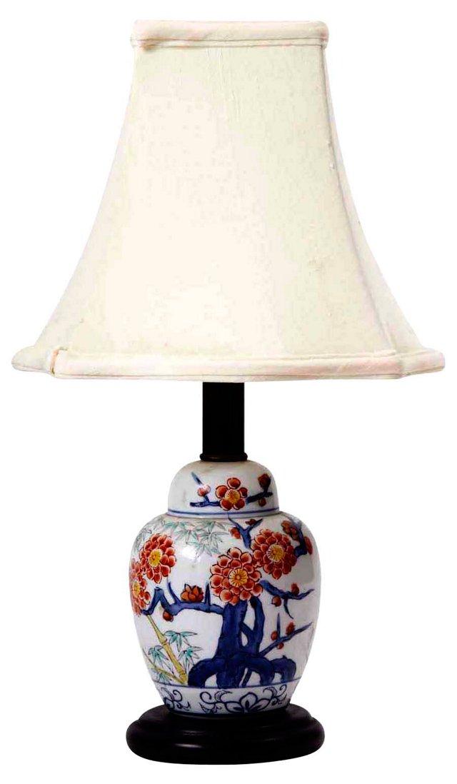 Blue & Orange Asian Lamp