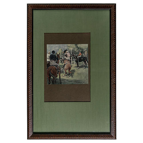 Day at the Races Lithograph