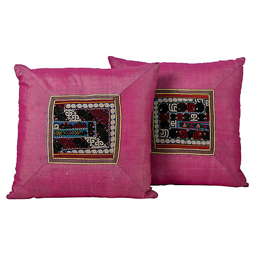 Suzani Appliqué Pillows, S/2