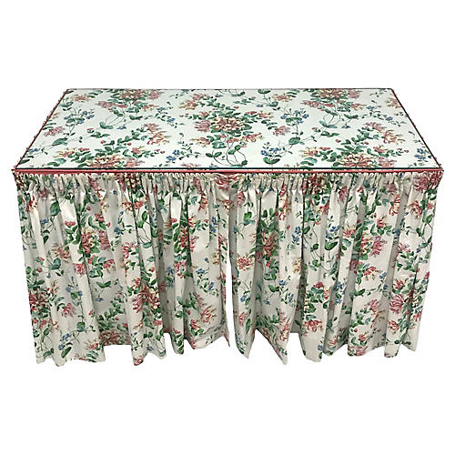 Floral Skirted Vanity Table