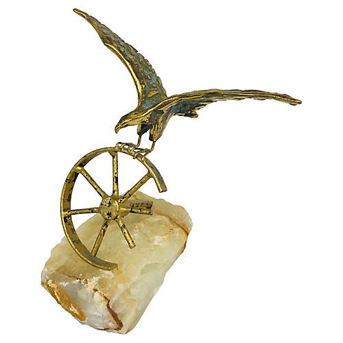 Brass Eagle on Quartz