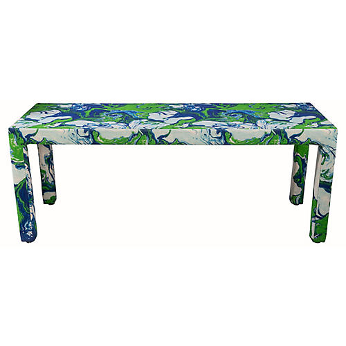 Fabric-Wrapped Console