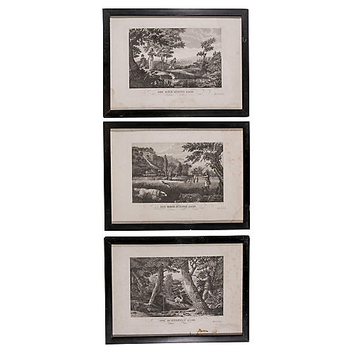 German Hunting Engravings, S/3