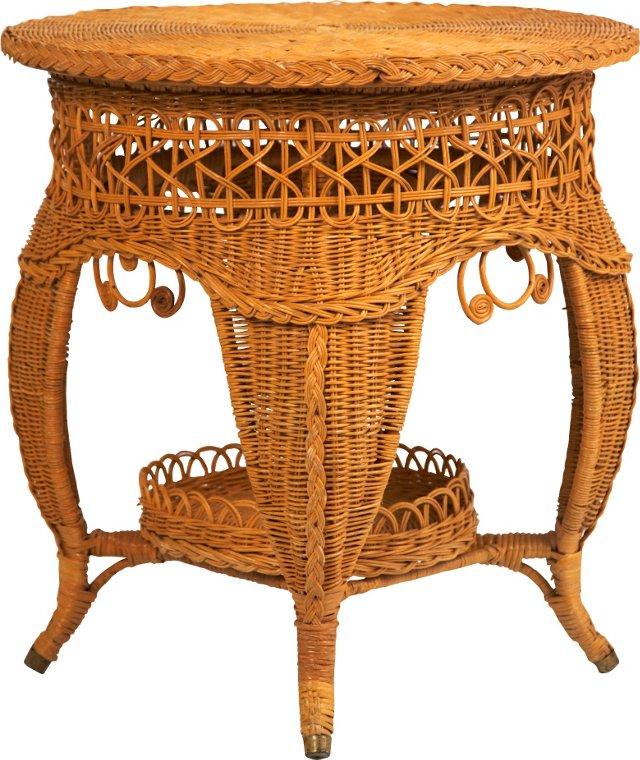 Wicker Lamp Table