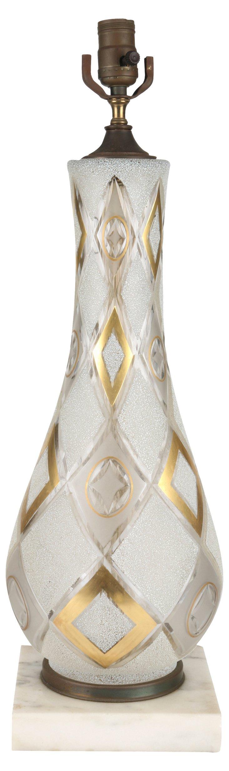 Argyle Cut-Glass Lamp