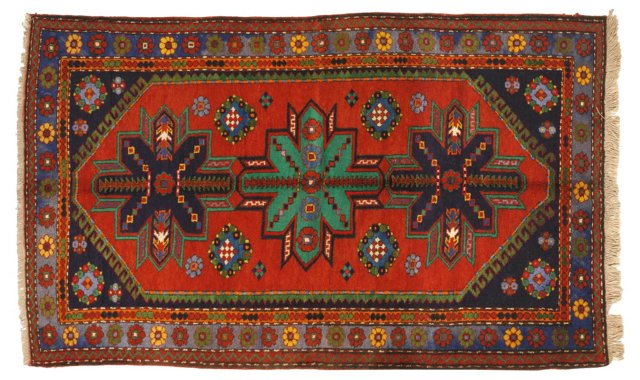 "Kazak Carpet, 8'1"" x 4'6"""