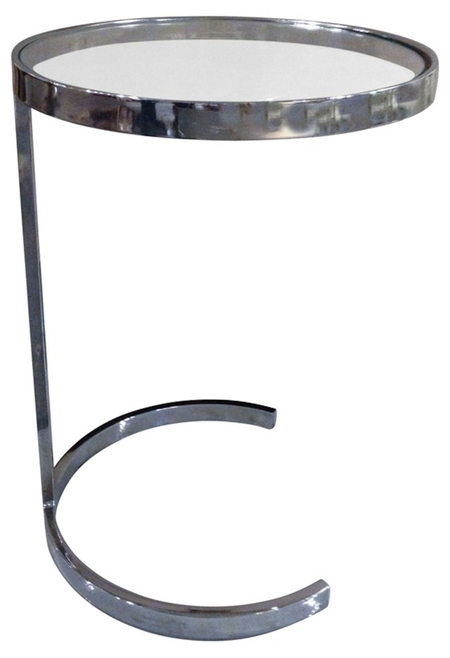1970s  Chrome-Finish Side Table