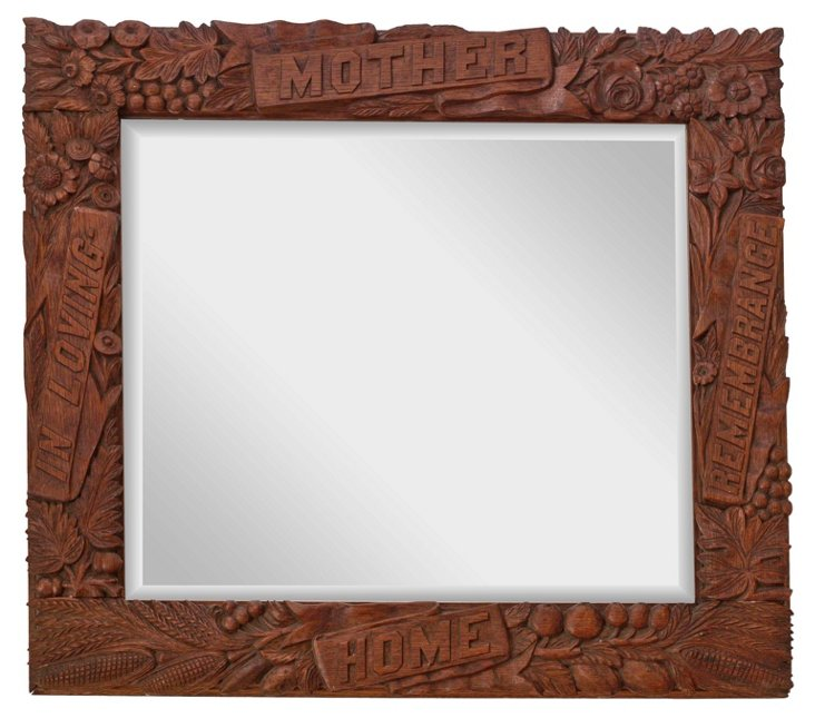Hand-Carved Mother Mirror