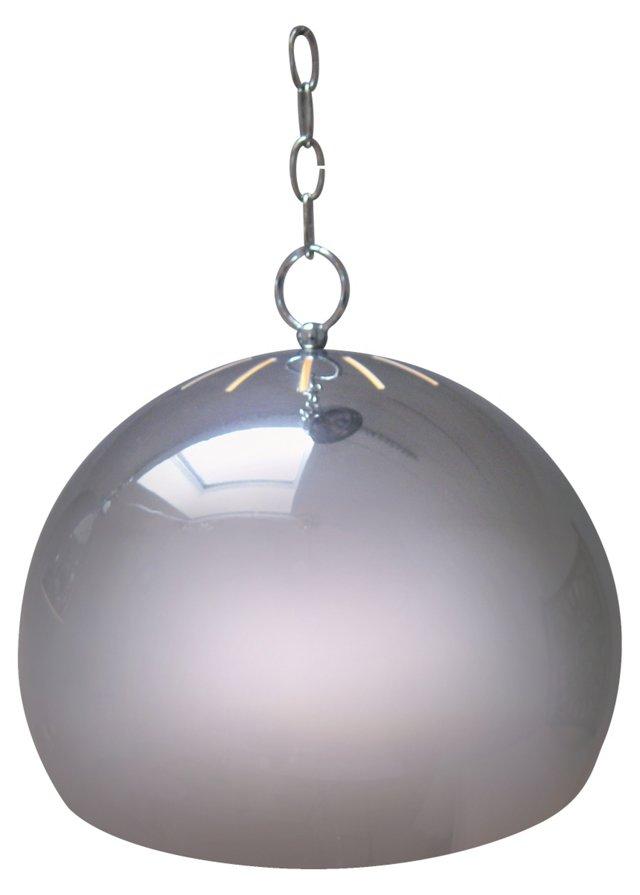 Round Chrome Pendant