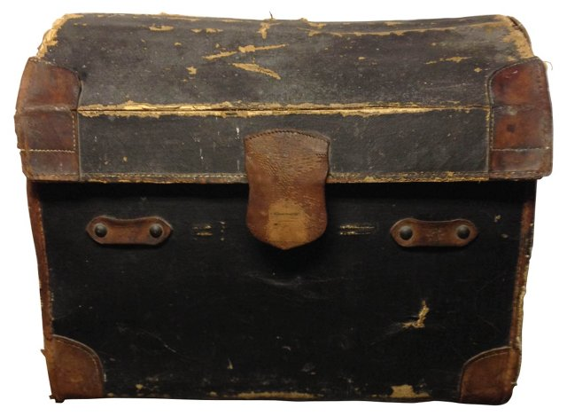 English  Canvas over Wicker Trunk